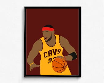 LeBron James Minimalist Sports Poster - King James, Cleveland, Basketball Poster