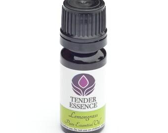 Lemongrass Essential Oil. Aromatherapy 10ml Bottle.