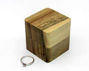 Wood ring box Wooden ring holder Storage ring box Unique ring box Wedding ring box Jewelry box Engagement ring box Personalized Gift of wood