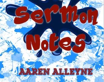 Boys Sermon Note Taking Book, Sermon Notes, Church Journal, Boys Sermon Notes