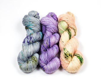 """Three Color Shawl Combo Fade set """"Purple Rain""""--(For  """"Snowmelt"""", """"Washed Out"""" Etc.) Simply Singles Base"""