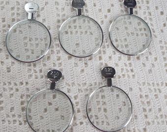 Vintage Optical Lenses 5 Pieces