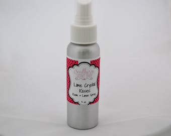 Lime Crystal Kisses -  Room And Linen Spray - Lime Room Spray - Room Deodorizer - Pillow Spray - Odor Eliminator - Home Fragrance