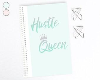 Bunte Königin Notizbuch, Freundin gehen Getter, motivierend, inspirierend, Schwester Geburtstagsgeschenk, Punktraster, Bullet Journal, Tagebuch-Planer