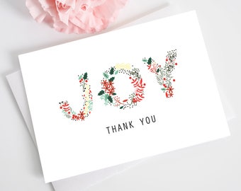 Christmas Printable Card -DIY Template-JOY Card-Holiday Card-Happy Holiday Joy Card-Thank You Card-Instant Download