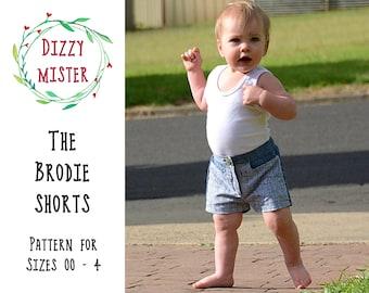 Boys shorts sewing pattern, shorts PDF pattern, girls shorts digital download, kids pants pattern