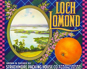 Loch Lomond Orange Crate Label