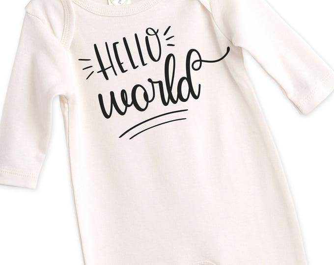 Newborn Baby Coming Home Outfit, Newborn Black White Coming Home, Newborn Hello World Bodysuit, Coming Home Bodysuit Tesababe
