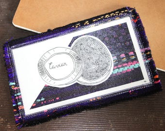 Wallet purple caviar