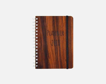 Wooden Planner A5 - Customized