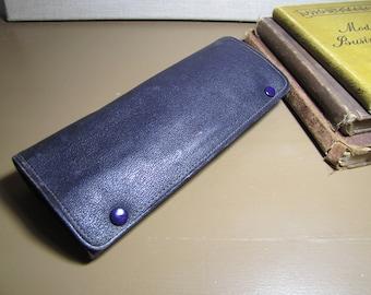 Vintage Roll Up Leather Travel Case