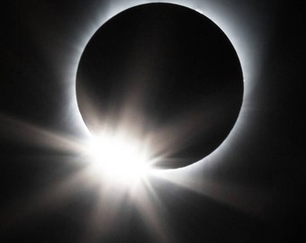Total Solar Eclipse 2017 SMALL PRINTS Diamond Ring Effect Sun Moon Photograph Print Original