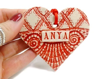 Anya Ornament, Hungarian Mother Gift, Mother's Day Gift, New Mother Ornament, Hungarian Mom, Anya Birthday, Mom To Be gift, Anya Heart