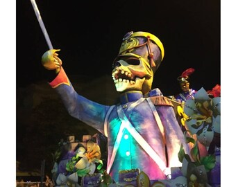 Dictator Skeleton Float Photograph