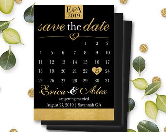 Magnet Save the Date Invitations Mark Calendar Personalized Customizable Fridge Magnet Wedding Marriage Engagement Envelope Included #MSD2