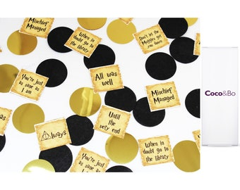 """Coco&Bo - Harry Potter """"Quotes"""" Table Confetti - Magical Wizarding Party Decorations"""