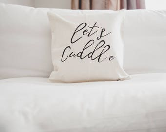 Let's Cuddle Throw Pillow