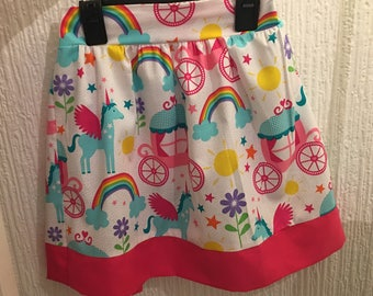 Unicorn Skirt, Girls Skirt, Unicorns Skirt, Rainbow Skirt, Toddler Skirt, Kids Skirt, Young Girl Skirt, Princess Skirt, Children's Skirt
