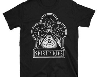 Spiritride logo screen printed handmade  T Shirt