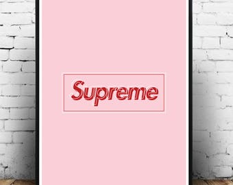 SUPREME Wall Art Designer Print Fashion Wall Art Supreme Designs Supreme Poster Prints Office A4/A3/A2 Designer Wall Art Fashion Art.  sc 1 st  Etsy & Designer wall art | Etsy