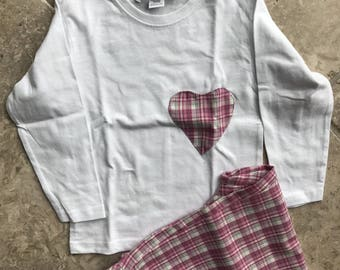 Spring Pink tartan pajama for girls