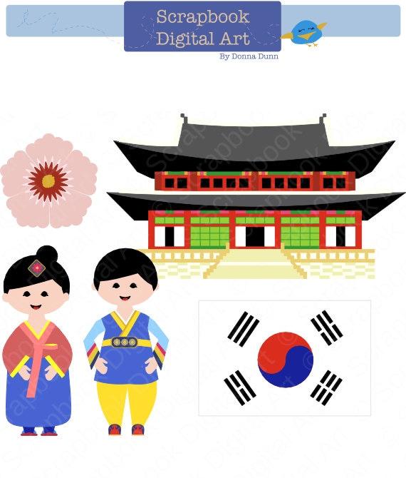 south korea clip art hanbok clip art korean traditional rh etsy com clipart korean child korea clipart