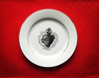Ex Voto Heart Vintage Dinner Plate