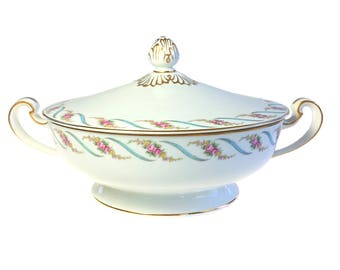 Noritake Japan Maywood 5154 Estate Round Covered Vegetable Dish Mid Century