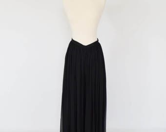 SALE: Victor Costa Chiffon Pleated Palazzo Pants