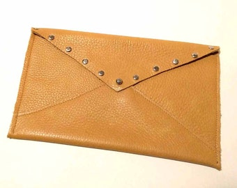 Camel Leather Travel Envelope