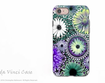 Purple Paisley Floral - Artistic iPhone 7  and iPhone 8 Tough Case - Dual Layer Protection - Tidal Bloom