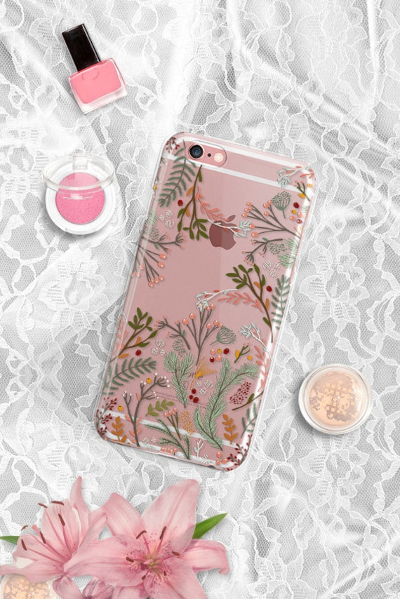 Floral iPhone 8 case Transparent Clear iPhone 8 Plus case Clear Samsung S8 Plus Case Samsung S8 Case Clear Samsung S7 Case Clear LG G5 Case