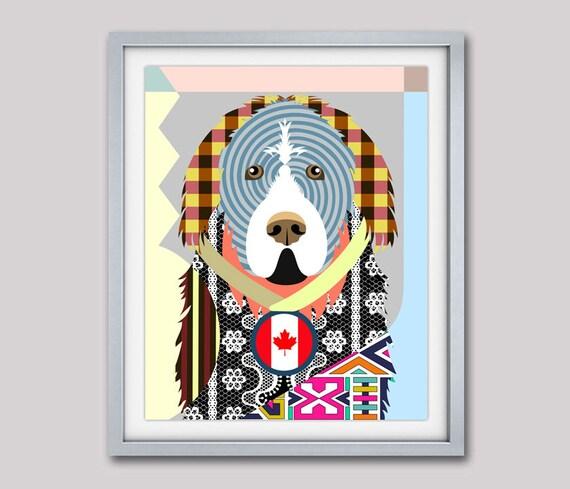 Newfoundland Dog Art, Newfoundland Gift, Newfoundland Poster, Newfoundland Painting, Newfoundland Print, Pop Art Dog, Dog Portrait, Dog Art