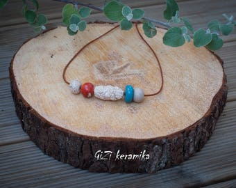 Ceramic handmade necklace
