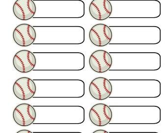 Icon label sports sticker set (planner stickers)