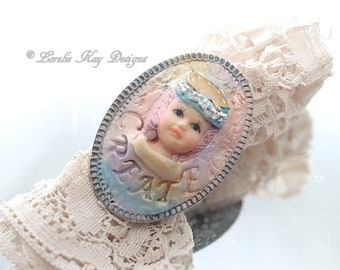 Create Artist Ring Doll Face Ring Doll Head Ring Fine Silver Plated Lorelie Kay Designs Doll Jewelry