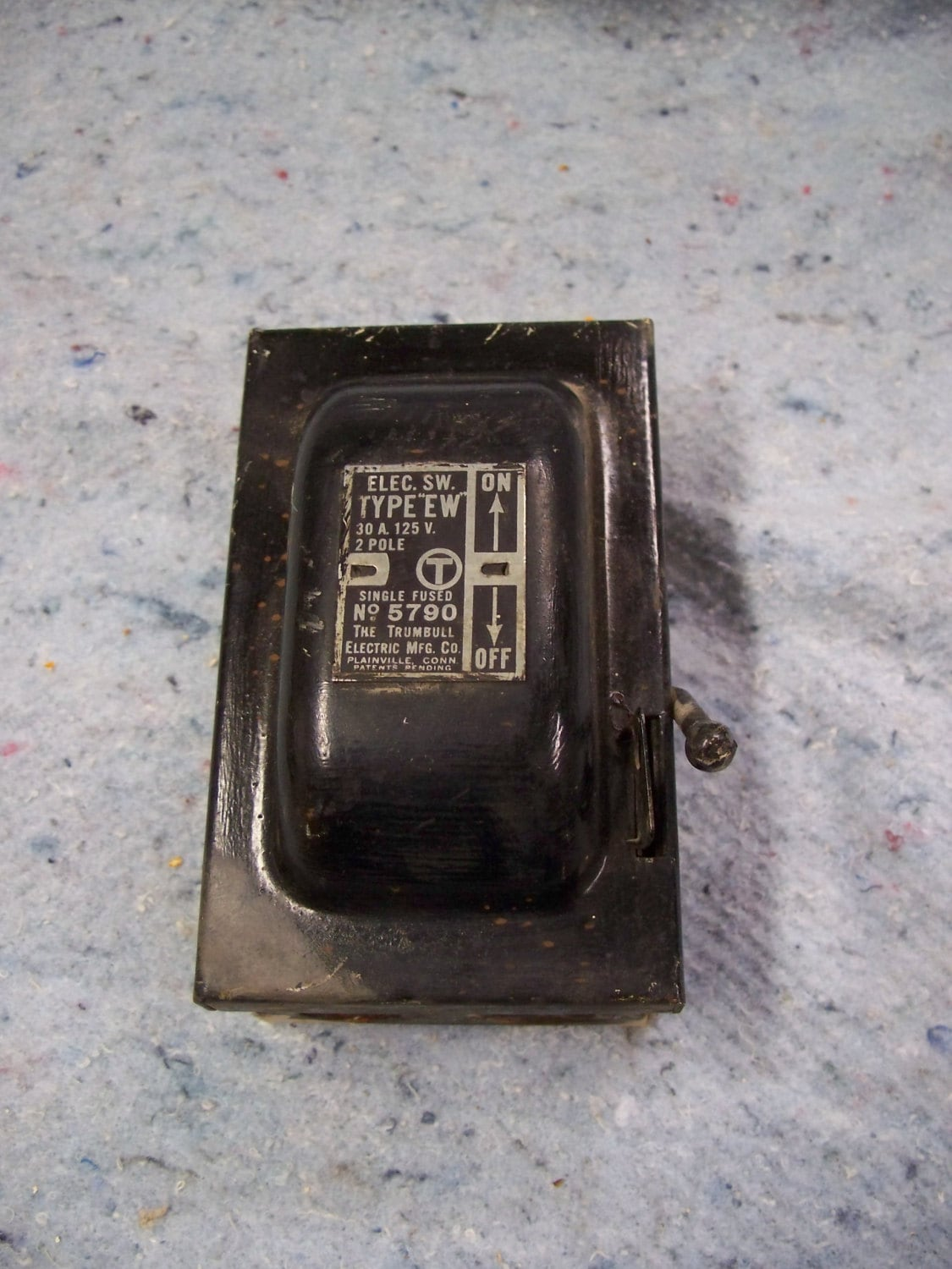 """Electrical Box, Vintage Fuse Box, Lighting Supply, Industrial Decor by The  Trumbull Elec. Mfg. Co. No. 5790, Type """"EW"""" Single Fused from MiscKDesigns  on ..."""