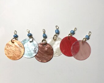 Wire wrapped Shell dangles, charms, pendants. Destash