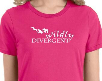 Wildly divergent three birds t-shirt