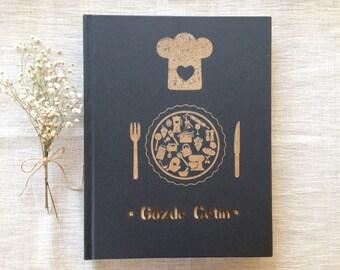 CHEF's Notebook, Personalized Sketchbook, Cook Book, Kitchen Book, Recipe Book, Recipe Organizer, Hobby Book, Personalized Notebook
