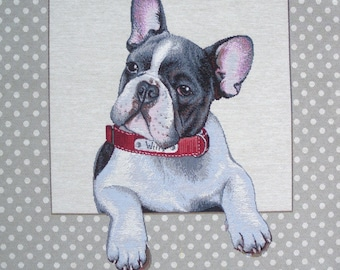 Coupon fabric tapestry Panel PORTRAIT French BULLDOG