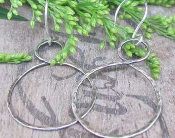 Silver hoop earrings, Large Hoop Earrings, Sterling Silver Earrings