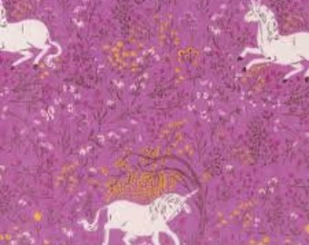 Heather Ross Far Far Away Windham fabrics Unicorn purple FQ or more OOP HTF