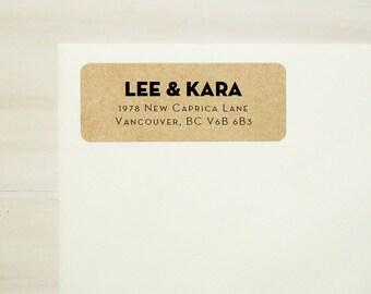 Custom Address Label, Modern Address Label, Return Address Label, Address Labels, Kraft Address Labels, Wedding Address Labels - Design #10