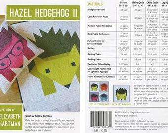 Hazel Hedgehog II by Elizabeth Hartman - Paper Printed Pattern