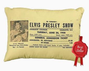 Concert Ticket Cushion Elvis Presley