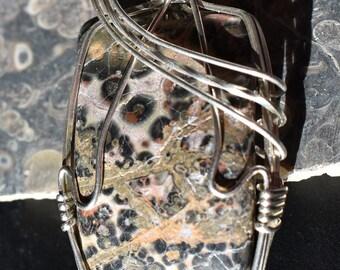 Wire Art: Leopardskin Jasper Pendant