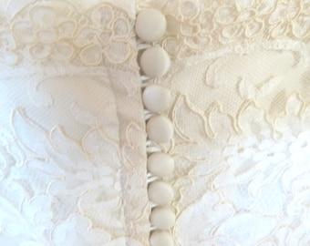 1960s Vintage Edythe Vincent for Alfred Angelo Designer Vintage Wedding Dress / 1960s Vintage Ivory Wedding Dress / Vintage Wedding Dress