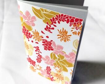 Floral Pocket Size Notebook, Desert Spirit Pattern, mini notebook, pocketbook, small notebook