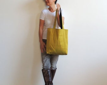 Tote Bag - Convenient Bag - Everyday Bag - Shopping Bag - Laptop Bag - Books Bag - Magazines Bag - Hand Bag - Shoulder Bag - Gold Bag